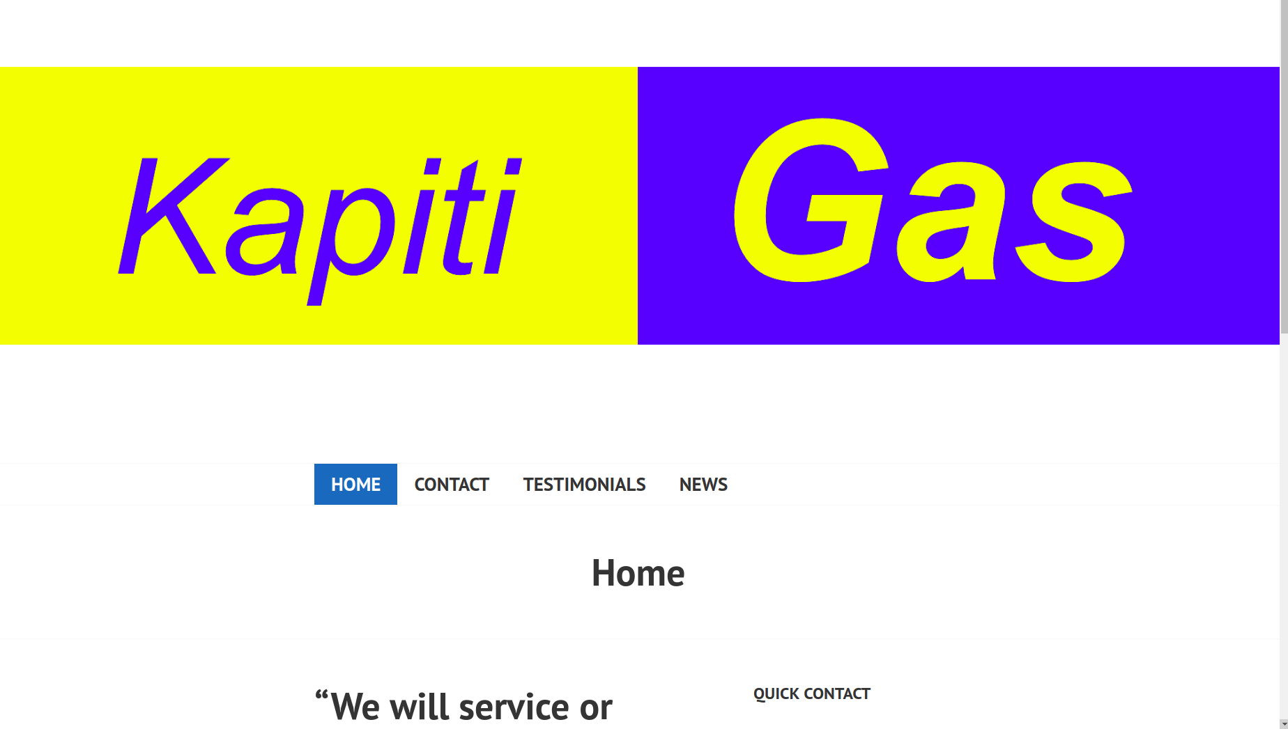 Website of kapiti gas