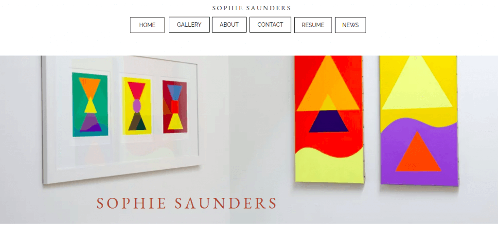 The website of Sophie Saunders, artist in waikanae.