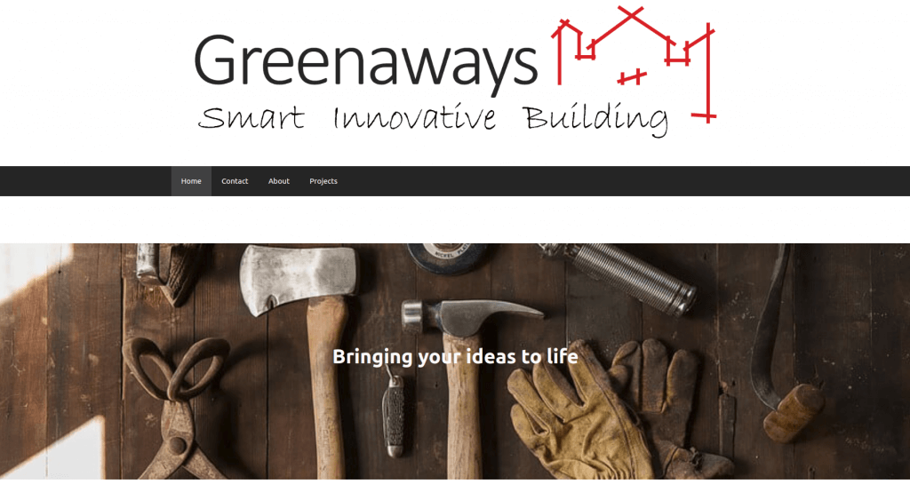 The image of greenaways construction website.