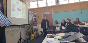 Ruth Pretty talking to a classroom with the students from the kapiti popup business school.