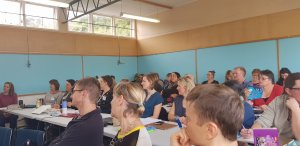 classroom with the students from the kapiti popup business school.