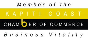 the logo of the kapiti coast chamber of commerce.