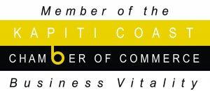 the logo of the kapiti coast chamber of commerce.