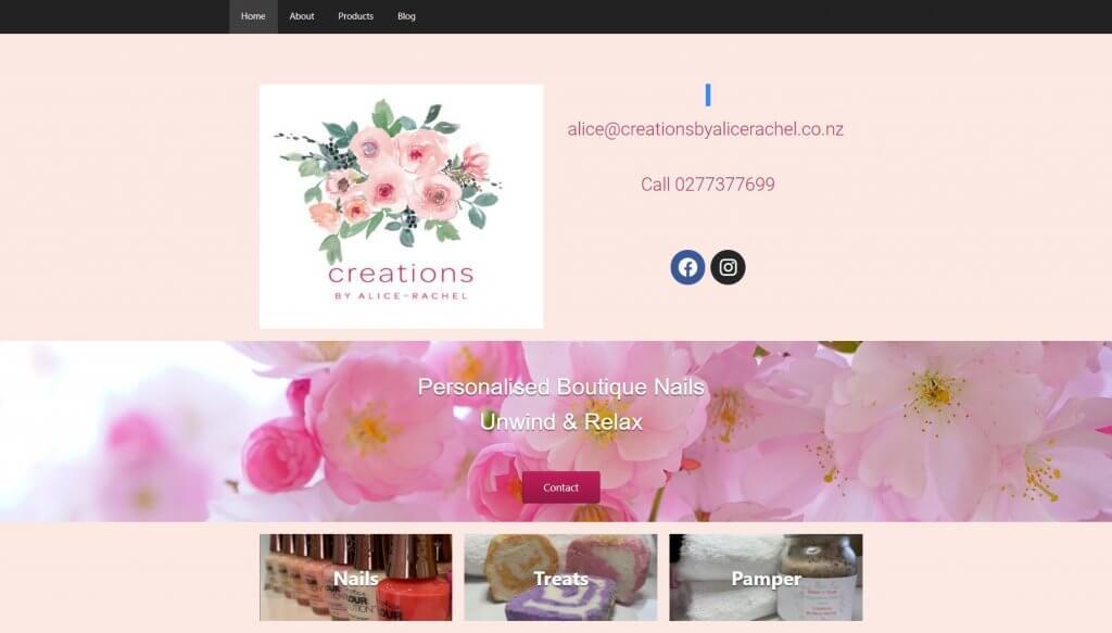 website of alice-rachel